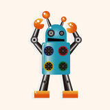 Robot cartoon theme elements vector,eps Stock Images