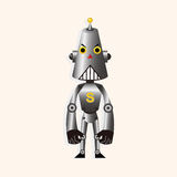 Robot cartoon theme elements vector,eps Stock Photo