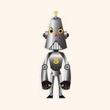 Robot cartoon theme elements vector,eps Stock Photo