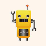 Robot cartoon theme elements vector,eps Royalty Free Stock Image