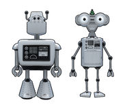 Robot Cartoons Royalty Free Stock Image