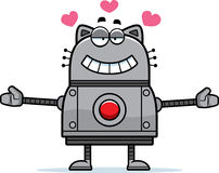 Robot Cat Hugging Stock Photography