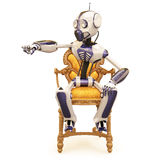 Robot and chair Royalty Free Stock Photography