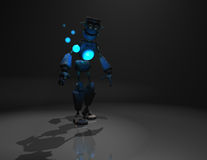 Robot character. Quality 3d render of robot and blue energy Royalty Free Stock Image