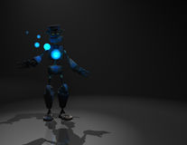 Robot character. Quality 3d render of robot and blue energy Royalty Free Stock Images