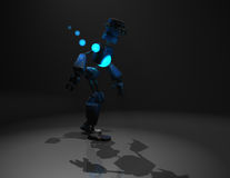 Robot character. Quality 3d render of robot and blue energy Stock Images