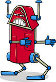 Robot character cartoon illustration Royalty Free Stock Images