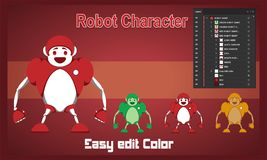 Robot Character Funny Vector royalty free illustration