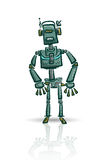 Robot character isolated on white Royalty Free Stock Photography