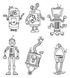 Robot character set Stock Photo