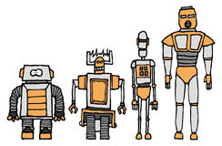 Robot character set Stock Images