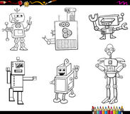 Robot characters coloring book Royalty Free Stock Photos