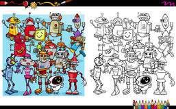 Robot characters coloring book Royalty Free Stock Photography