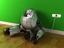 Robot che si fa pagare per riempire energia illustrazione vettoriale