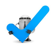 Robot with check Royalty Free Stock Photography