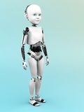 Robot child standing. Royalty Free Stock Photos