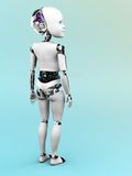 Robot child standing nr 2. Stock Image