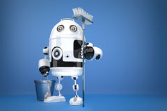 Robot Cleaner. Technology concept. Contains clipping path Stock Photography
