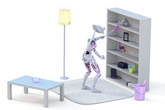 Robot Cleaning royalty free stock photos