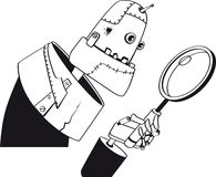 Robot clipart Royalty Free Stock Photography