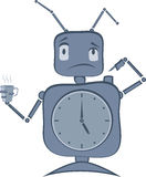 Robot Clock Stock Images