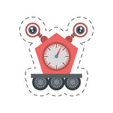 Robot clock eletronic mechanical cutting line Royalty Free Stock Photography