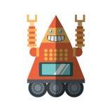 robot clock laungh rocket smile shadow royalty free illustration
