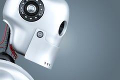 Robot close-up portrait. 3D illustration. Contains clipping path.  vector illustration