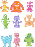 Robot Collection Royalty Free Stock Photo