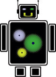 Robot with colored heart Royalty Free Stock Photo