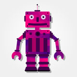 Robot with colorful triangles Royalty Free Stock Images