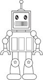 Robot coloring page Stock Image