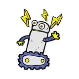 robot comique de bande dessinée illustration de vecteur