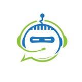 Robot communicate illustration Stock Photography