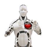 Robot con cuore aperto Immagini Stock