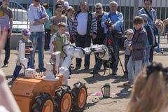 Robot con el clavel fotos de archivo libres de regalías