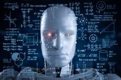 Robot con el hud de la educación libre illustration