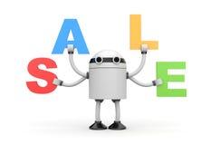 Robot con gli sconti Immagini Stock