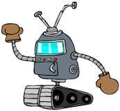 Robot con i guantoni da pugile illustrazione vettoriale