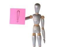 Robot con il contrassegno di esclamazione Immagini Stock