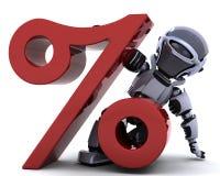 Robot con il simbolo illustrazione vettoriale