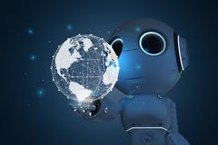 Robot con la conexión global libre illustration