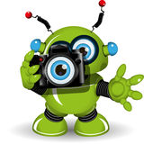 Robot con la macchina fotografica Fotografia Stock Libera da Diritti
