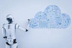 Robot con la nube libre illustration