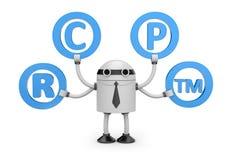 Robot con símbolos Foto de archivo libre de regalías