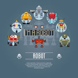 Robot Concept Icons Stock Photo