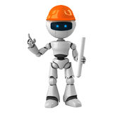Robot construction worker Royalty Free Stock Photo