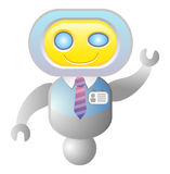 Robot consultant. Support icon; isolated vector illustration Royalty Free Stock Images
