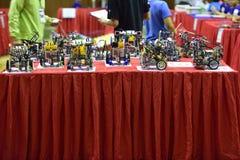 Robot contest. Stock Photos