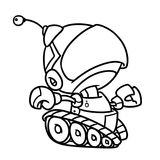 Robot contour illustration character Royalty Free Stock Image
